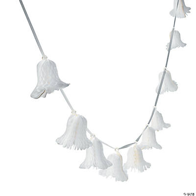 Tissue Bell Garland with Ribbon