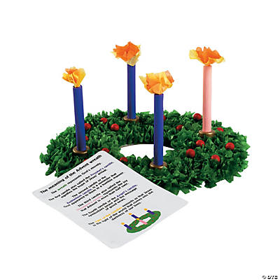 Tissue Paper Advent Wreath Craft Kit