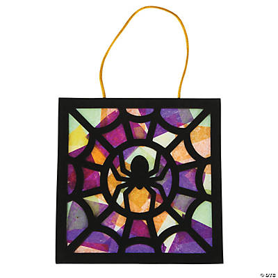 Tissue Paper Black Spider Craft Kit