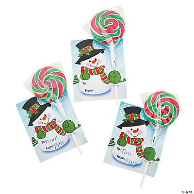 To/From Christmas Swirl Pops with Card