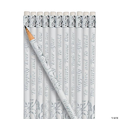 To Have And To Hold Wedding Bell Pencils