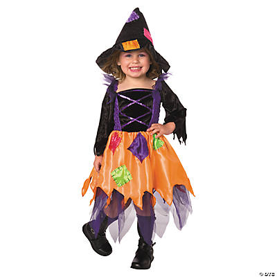 Toddler Girl's Patchwork Witch Costume - 2T-4T