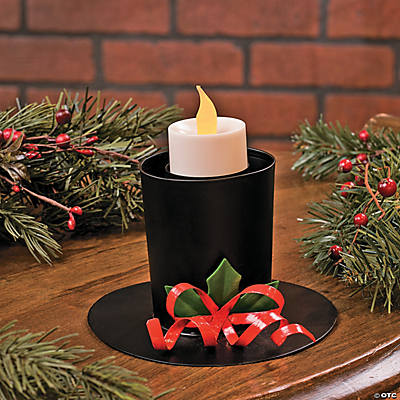 Top Hat Christmas Candle Holder
