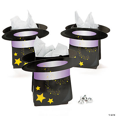 Top Hat-Shaped Treat Bags