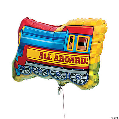 Train-Shaped Mylar Balloon