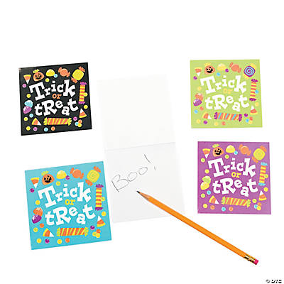 Trick-or-Treat Notepads