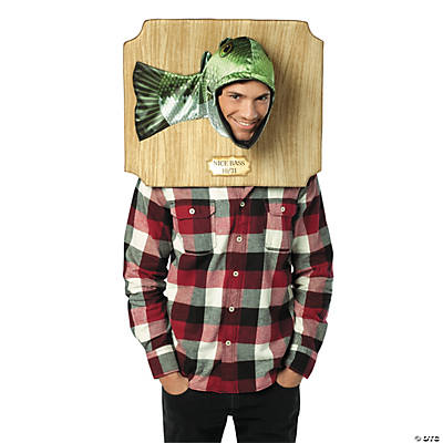 Trophy Head Bass Adult Men's Costume