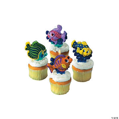 Tropical Fish Cake Topper Birthday Candles
