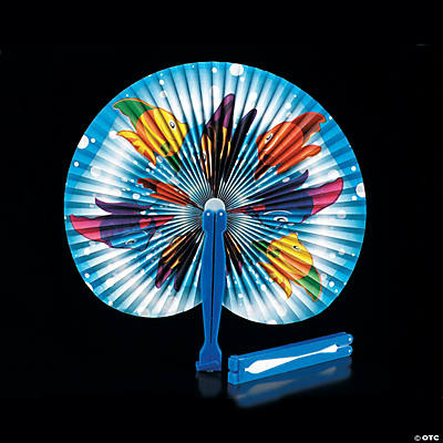 Tropical Fish Folding Hand Fans