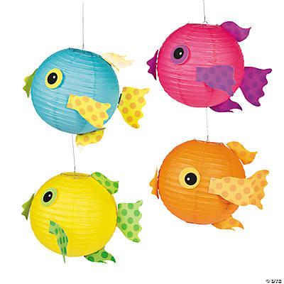 Tropical fish hanging paper lanterns for Paper lantern fish