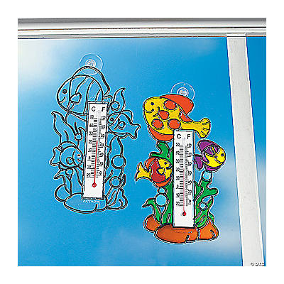 Tropical Fish Sun Catcher Thermometers