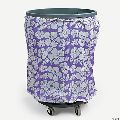 Tropical Flower Trash Can Cover