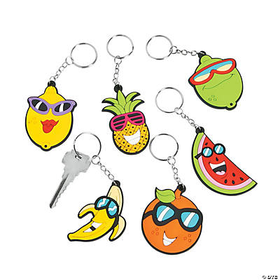 Tropical Fruit Keychains