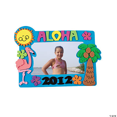 2012 Tropical Picture Frame Magnet Craft Kit