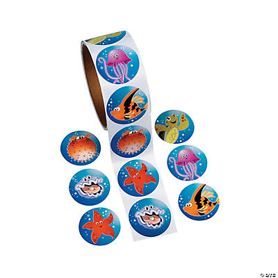 Tropical Sea Life Roll of Stickers