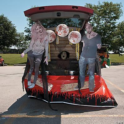 trunk or treat zombie dcor idea - Halloween Trunk Or Treat Decorating Ideas