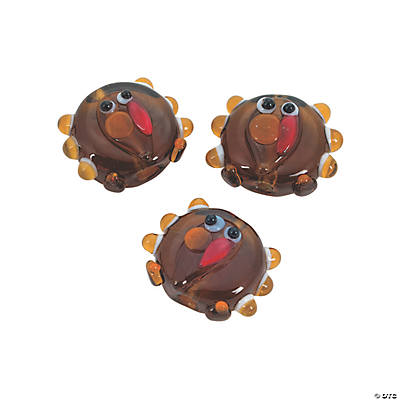 turkey lampwork beads 17mm