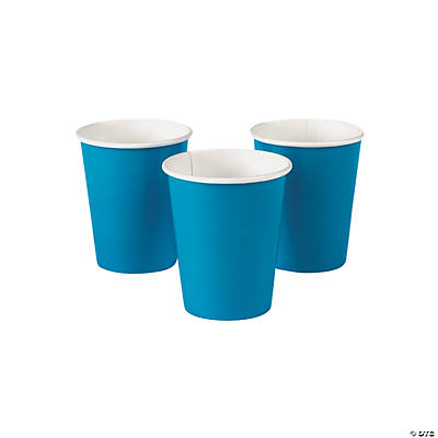 Turquoise Paper Cups