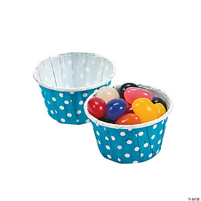 Turquoise Polka Dot Snack Cups