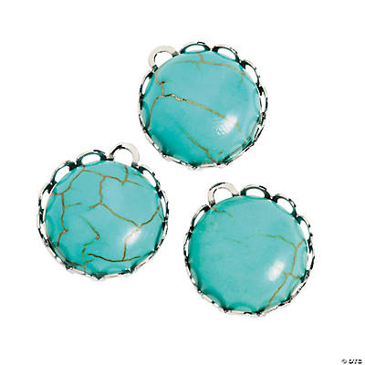 Turquoise Round Charms