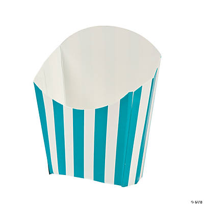 Turquoise Striped Fry Containers