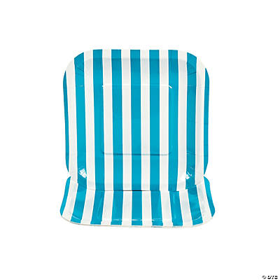 Turquoise Striped Square Dessert Plates