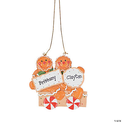 Two Gingerbread Men Christmas Ornament
