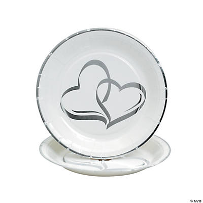 Two Hearts Dessert Plates