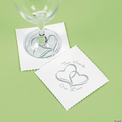 Two Hearts Wedding Coasters