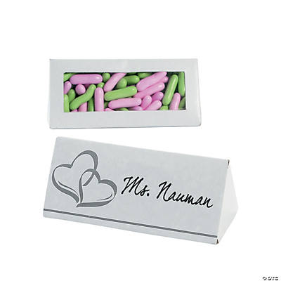 Two Hearts Wedding Place Card Favor Boxes