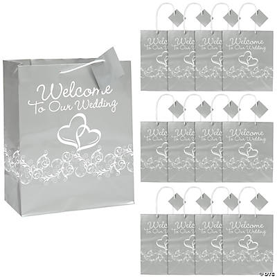 Wedding Gift Bags Online : Two Hearts ?Welcome To Our Wedding? Gift Bags