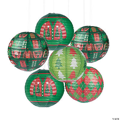 Ugly Sweater Hanging Paper Lanterns