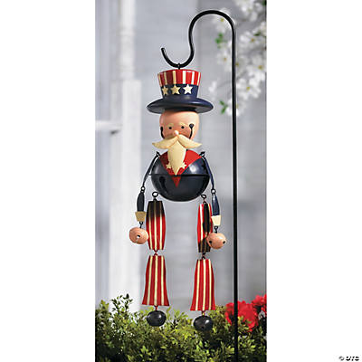 Uncle Sam Jingle Bell Yard Stake