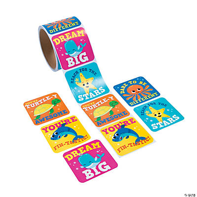 Under the Sea Jumbo Roll Stickers