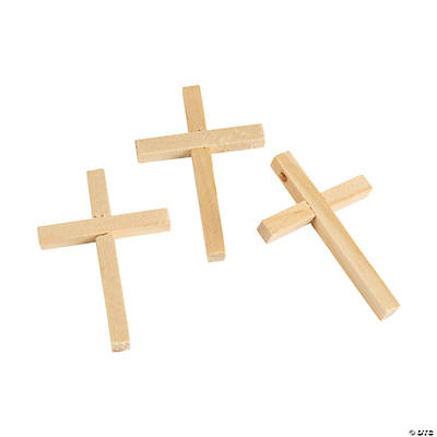 Unfinished Wood Cross Beads