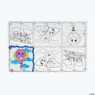 Up & Away Coloring Tablecloth