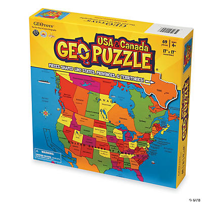 USA  Canada GEO Puzzle  Oriental Trading