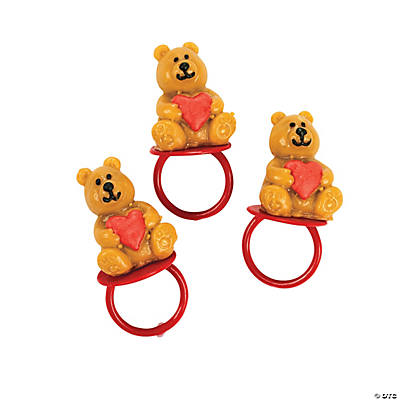 Valentine Candy Bear Sucker Rings
