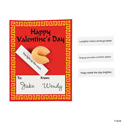 Valentine Cards with Fortune Cookie Erasers Oriental Trading – Singing Valentine Cards