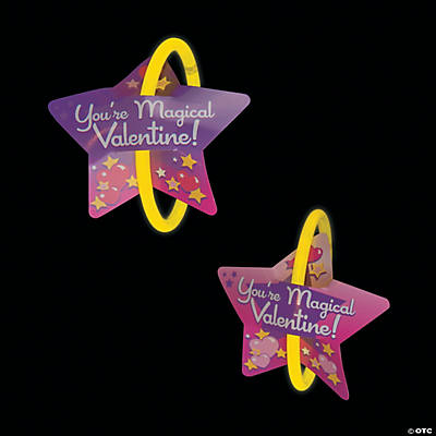 Valentine Cards with Glow Bracelets