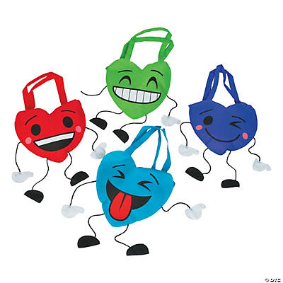 Valentine Character Tote Bags