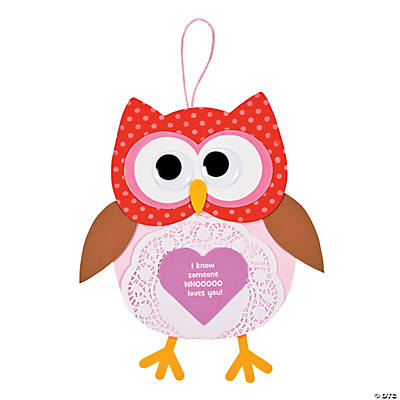 Valentine Doily Owl Sign Craft Kit