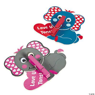 Valentine Elephant Clothespin Craft Kit