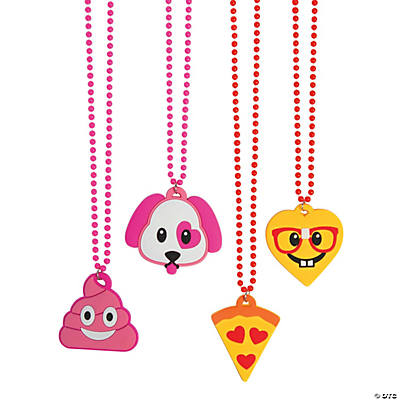 Valentine Emoji Necklaces