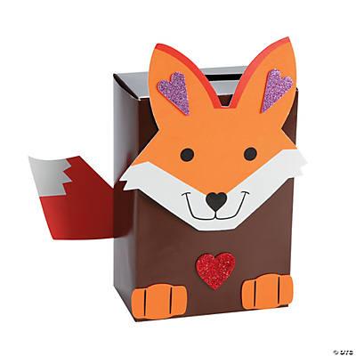 Valentine Fox Card Box Craft Kit Oriental Trading Discontinued – Valentine Card Boxes