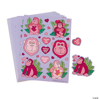 Valentine Gorilla Sticker Sheets