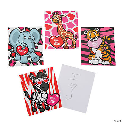 Valentine Heart Animal Notepads