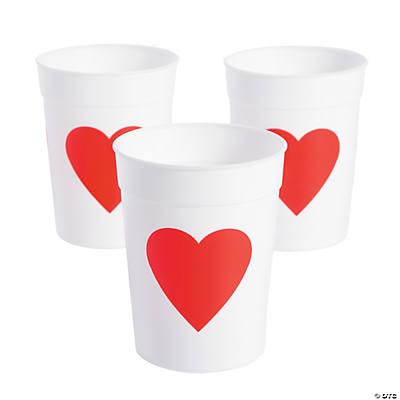 Schön Valentine Heart Plastic Cups