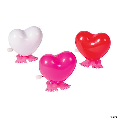 Elegant Valentine Hopping Hearts Wind Up Toys