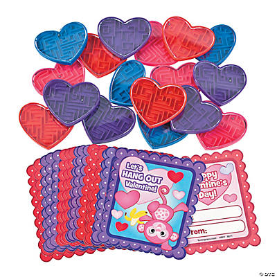 Valentine Maze Puzzle Fun Favors With Cards